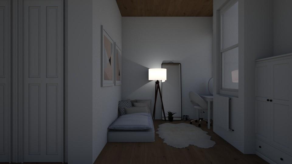 minimalistic bedroom - Bedroom - by emmaald