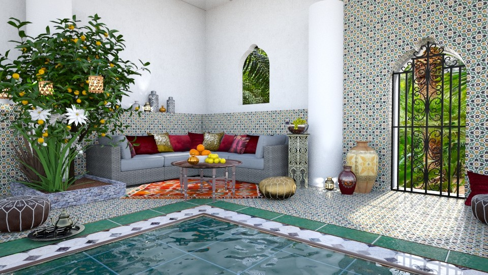 Riad in Marrakech - Garden - by Mandine