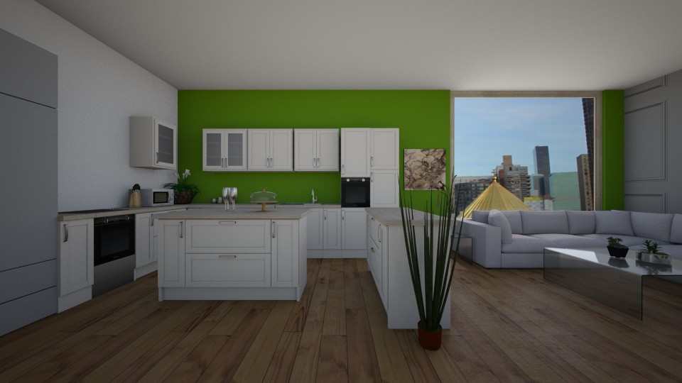 Open Kitchen to Living - by Jessica Baines