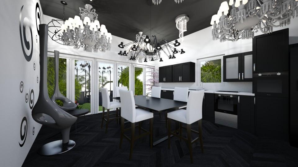 Just black - Modern - Kitchen - by RollPinkEra