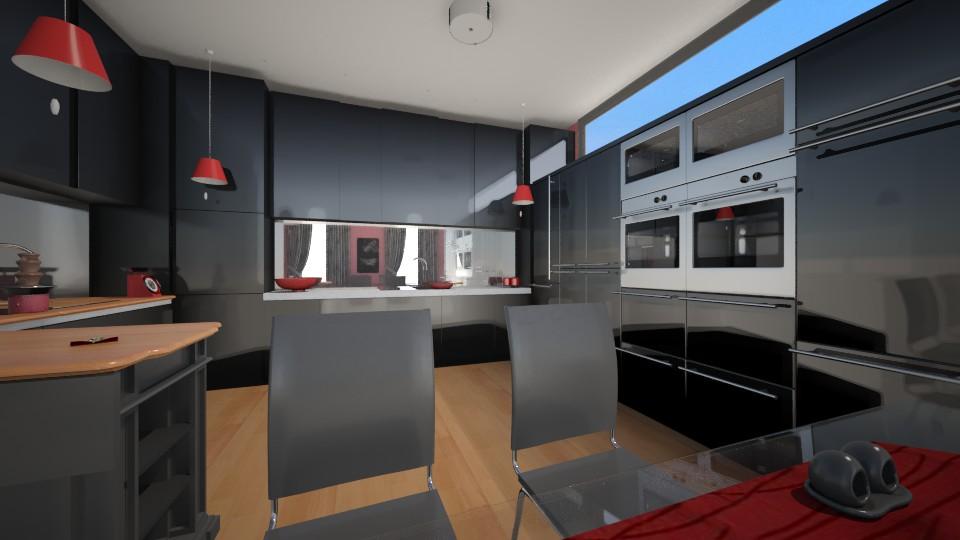 black kitchen  - Kitchen - by Karen Priest