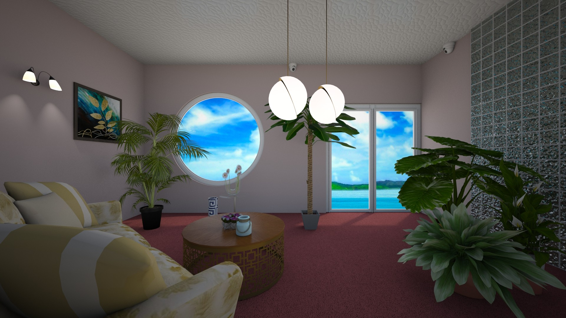 Beach house - Living room - by Sue Bonstra