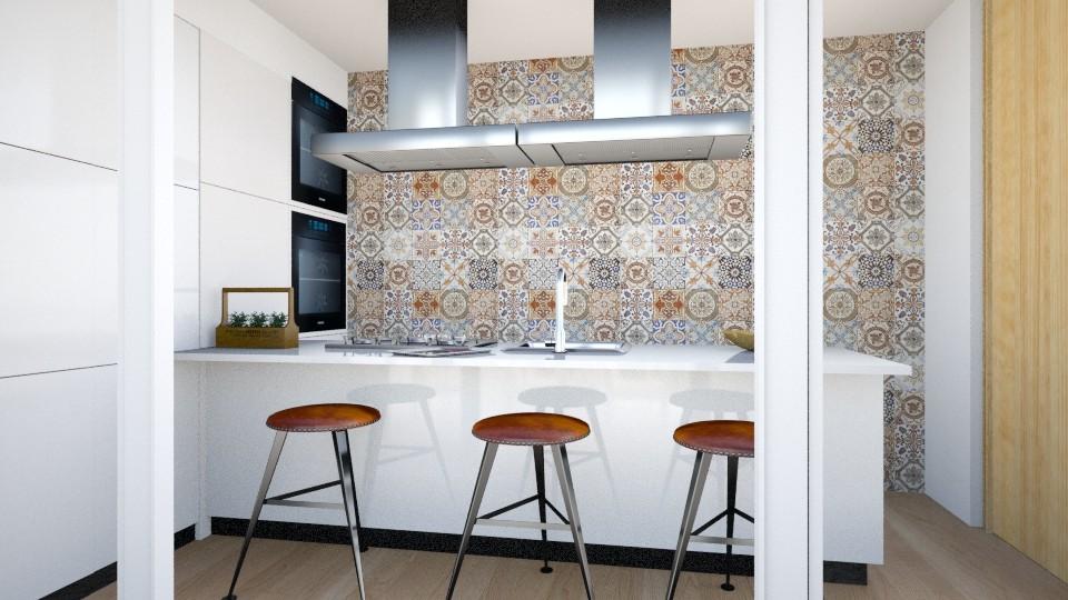 kitchen in summer villa - by gloria marietti