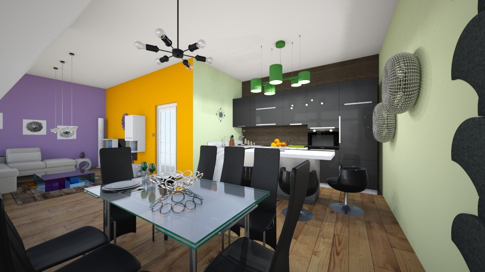 kitchen - Living room  - by sweet_sisit0o