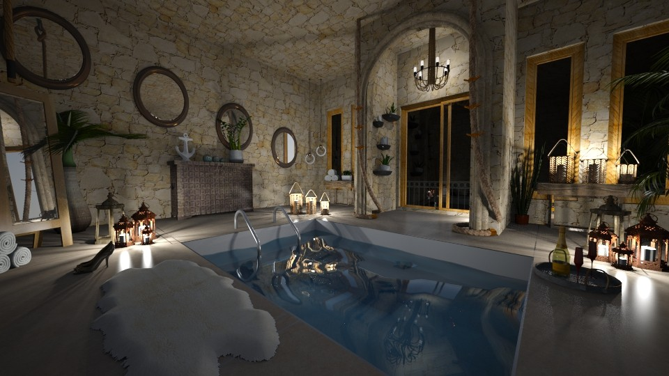 sunken bath - Bathroom - by 80monkey
