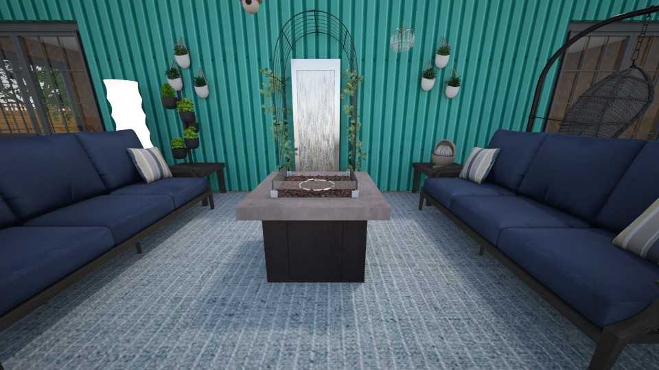 Container Home  Patio - Garden - by June Thomas