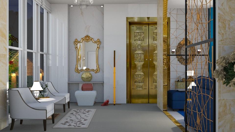 Gold hallway - by nat mi