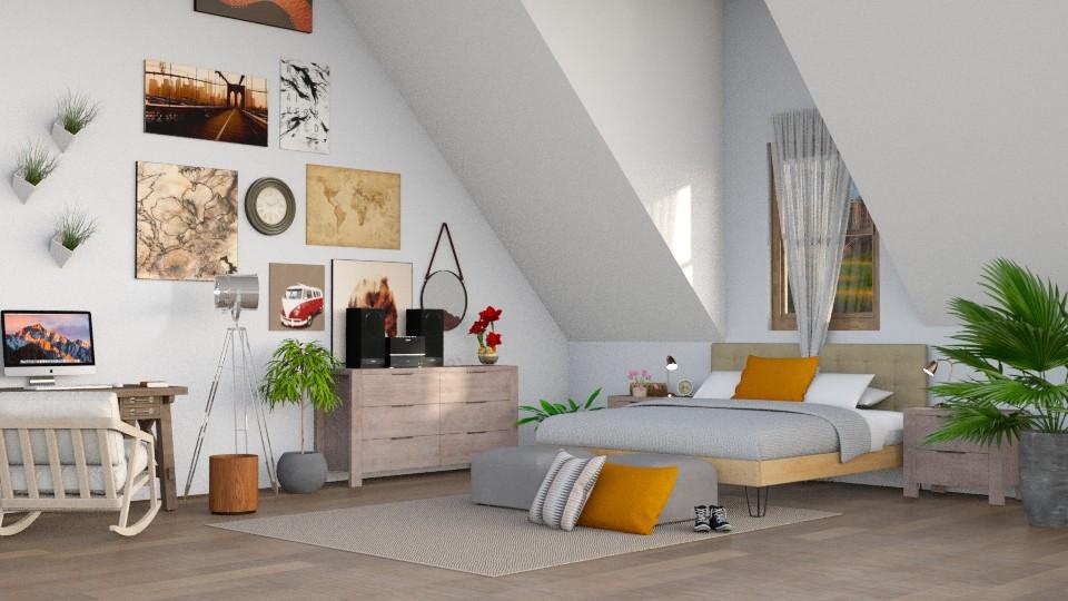 Attic Bedroom - Bedroom - by LunaBradley