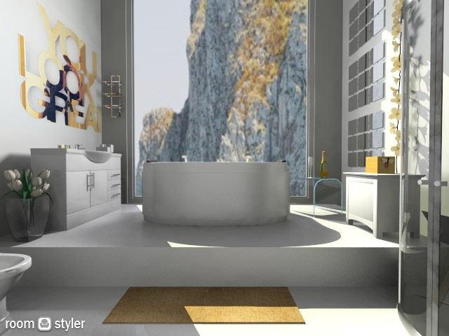 Glam bath - Bathroom  - by isabelamoura