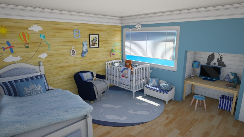 blues - Modern - Kids room - by carina68