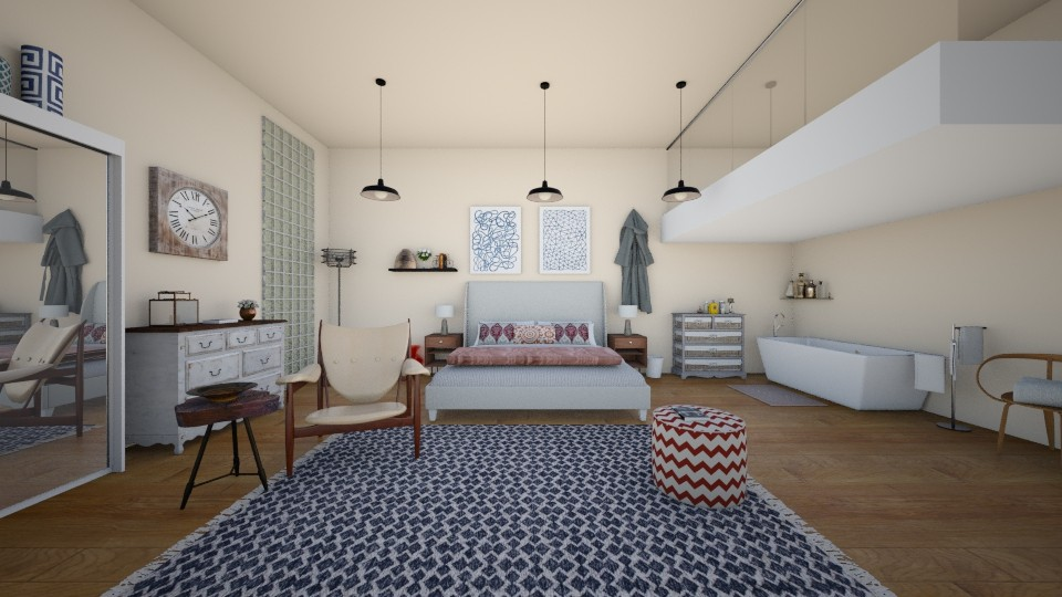 upside down loft - Eclectic - Bedroom - by Charlotte Aliceee