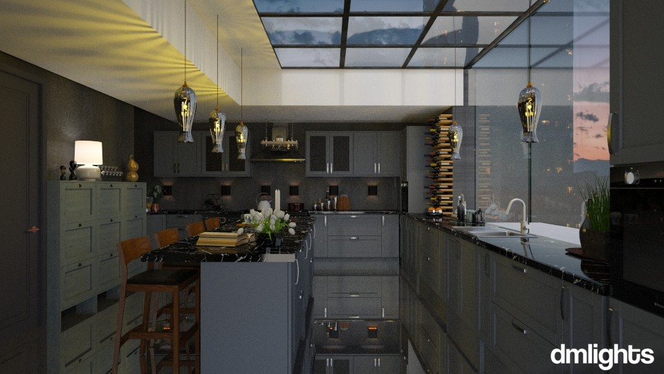 Kitchen cloudy sky color - Kitchen - by DMLights-user-991288