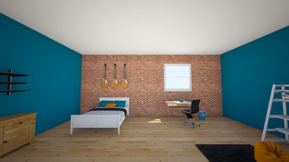 Boys Blue Room - Bedroom  - by jmeyer2x4