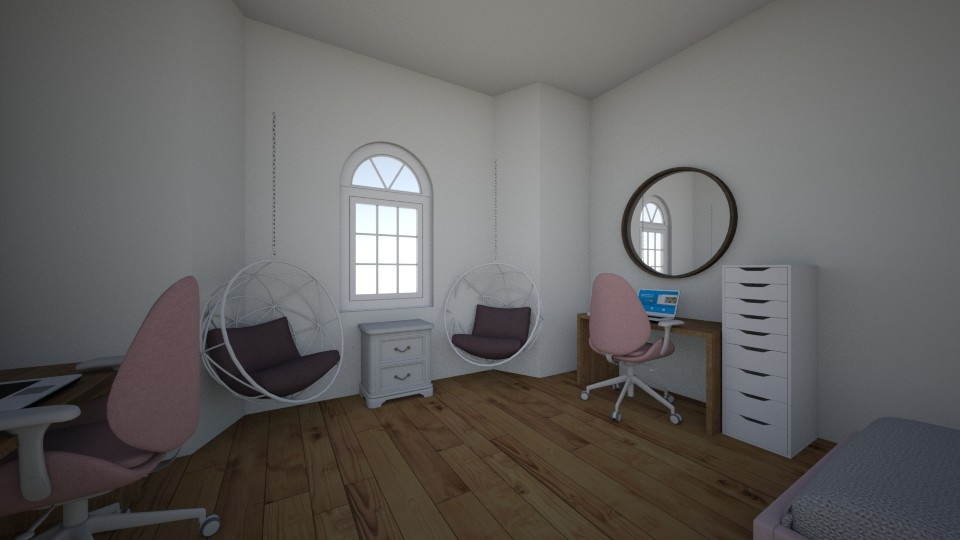 twins room - Feminine - Bedroom - by Louxx19