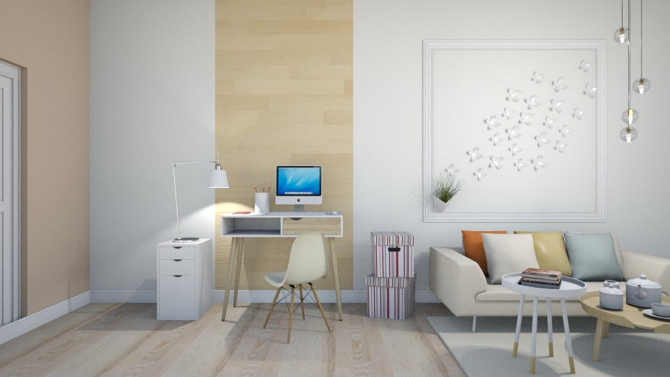 Working 2 - Living room  - by Val Val