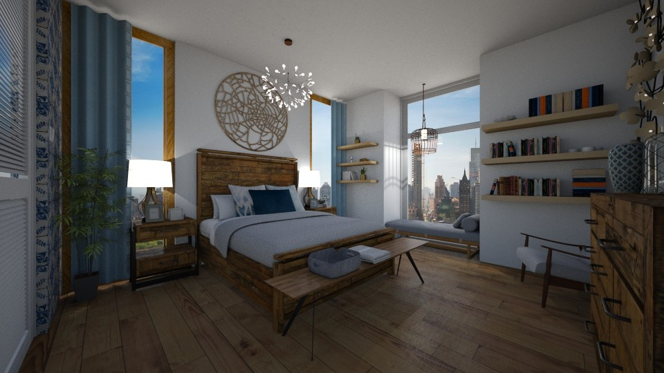 wood bedroom - by julianamollica