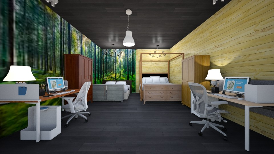 shared bedroom - Rustic - Bedroom - by the ice magical unicorn