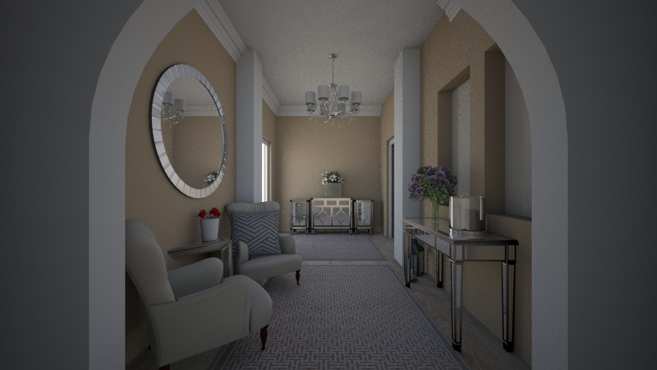 HALLWAY  - Living room - by MadebyG