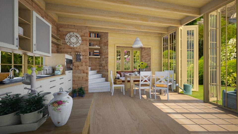 Sunny Kitchen - Kitchen  - by GosiaT