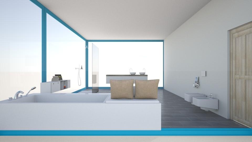 MariesHausBadvonSchlafz2 - Modern - Bathroom - by Marie Harrer