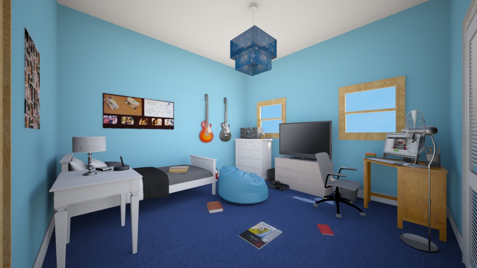 Teen room - Bedroom - by Jessica Lyn
