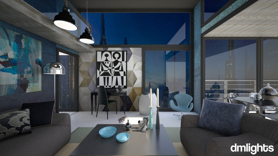 Coruscant Penthouse - Modern - Living room - by KRdesign