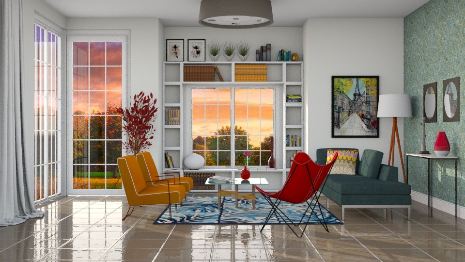 Entardecer de outono - Living room - by Alecio