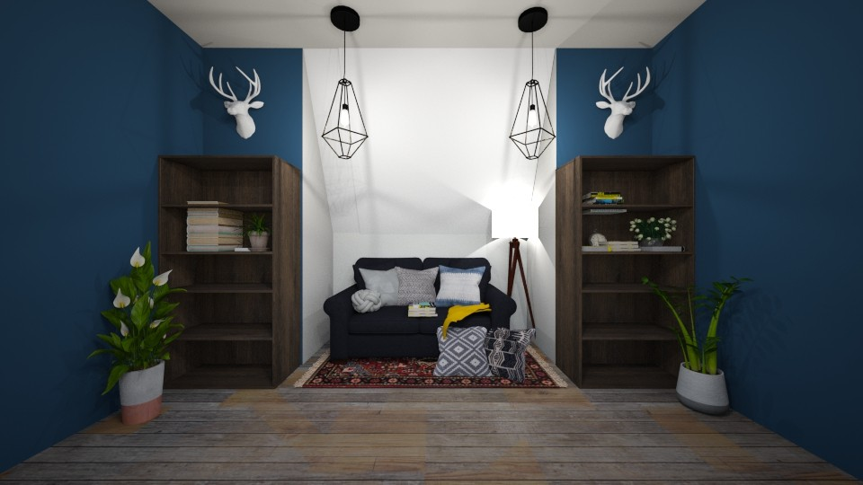 cozy attic library - by gretchen2005