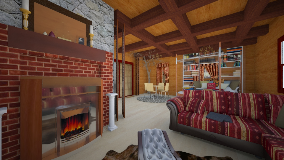 Cabin in the woods - Country - Living room  - by lauracopey
