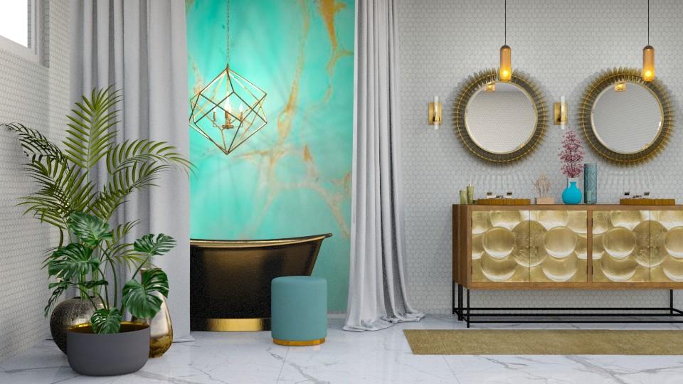TurqMetal Bathroom - Bathroom - by jjp513