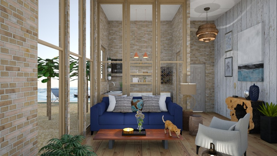 blue wild2 - Living room - by alina2222