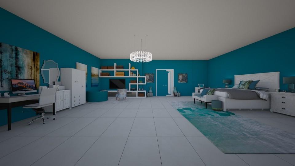 teal ocean room - Eclectic - Bedroom - by crystalg98