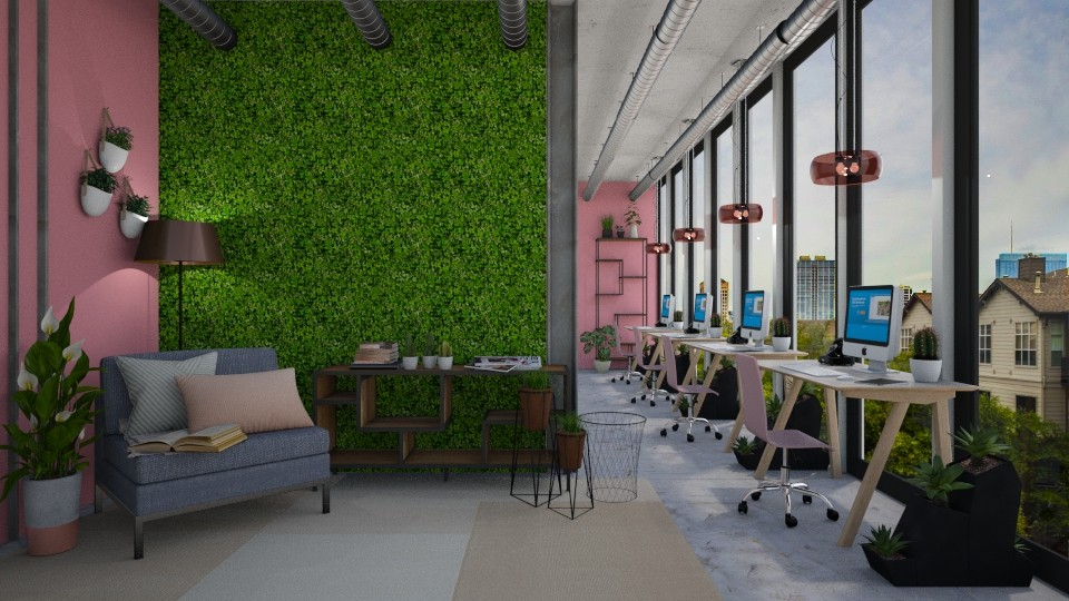 Living wall office - Modern - Office - by Evie11