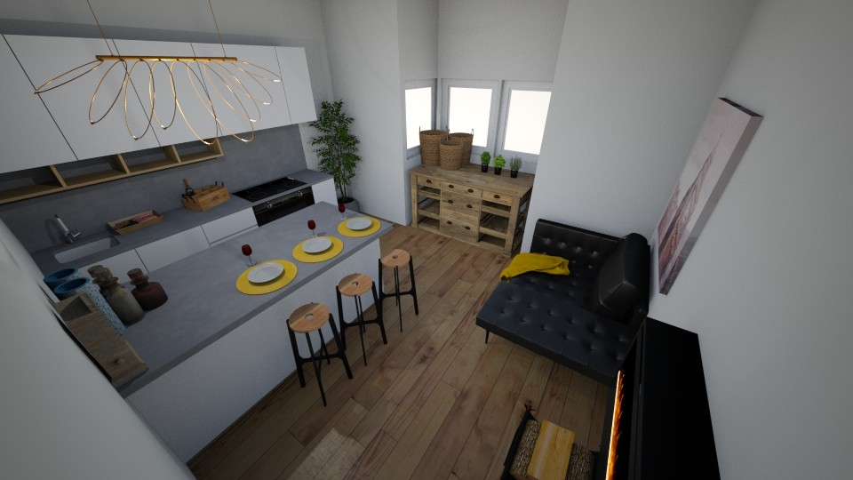 warm and modern - Kitchen - by abbysrooms