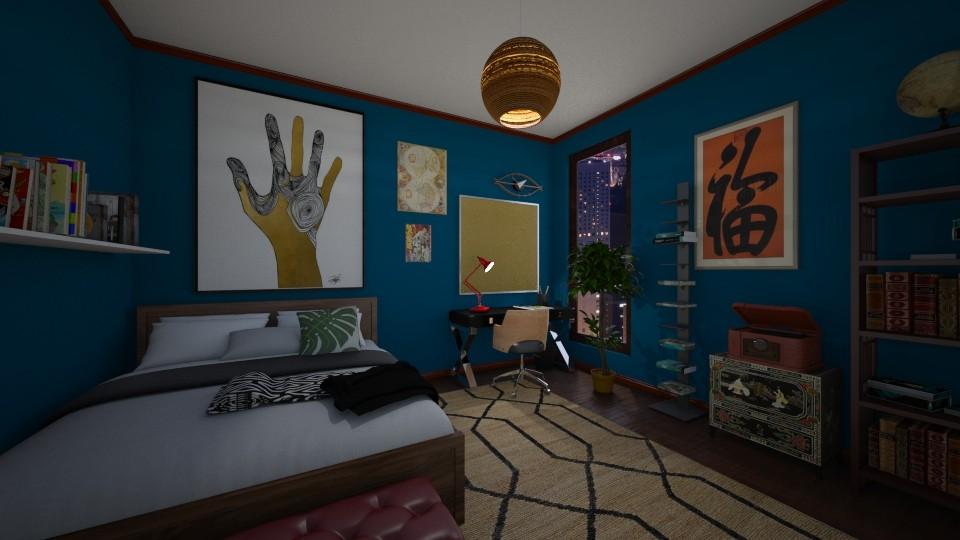 Bedroom in Blue - by elizamarcus17