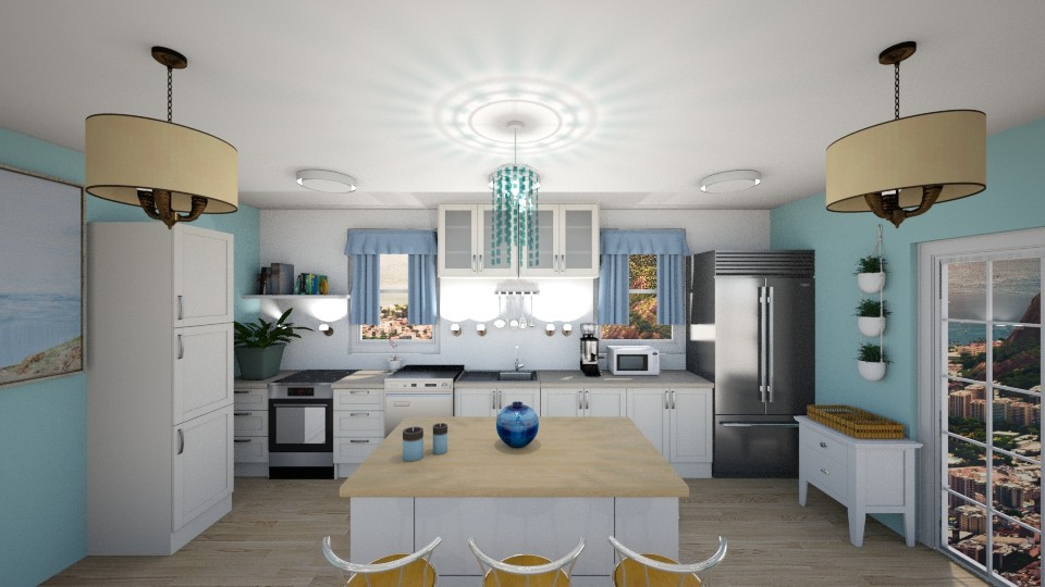 Coastal Kitchen - Kitchen  - by JoJo Y