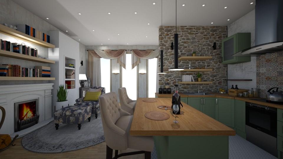 rusticc - Kitchen - by alina2222