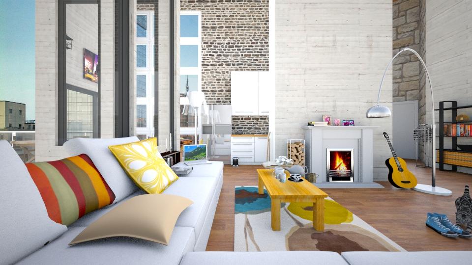 Bachelor living - Modern - Living room  - by christoforos
