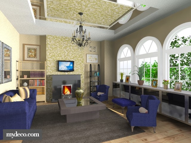 Feeling Royal Blue - Living room  - by dredre1030