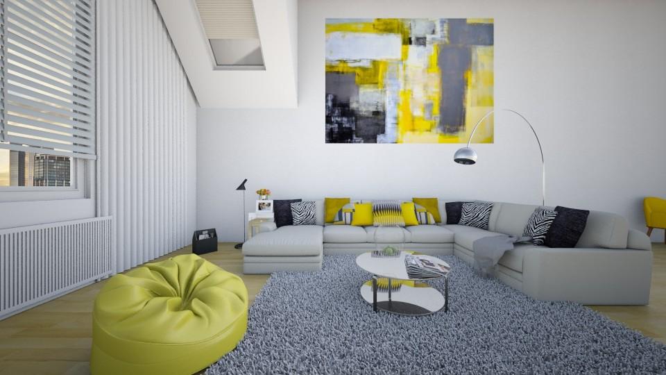 yellow - Living room - by xheni46