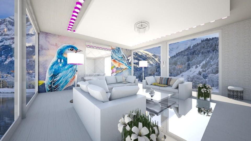 Cute living room - Living room  - by Liza S