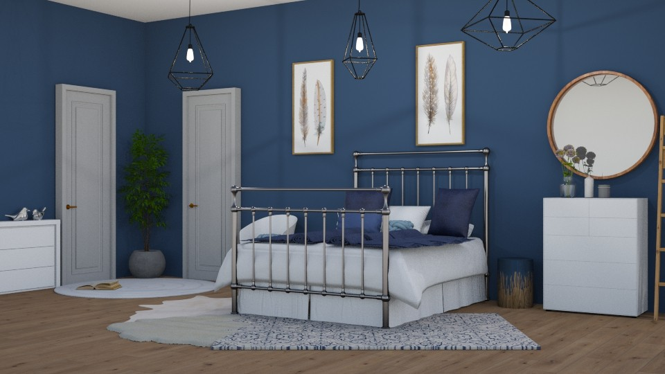 blue - Modern - Kids room - by NEVERQUITDESIGNIT