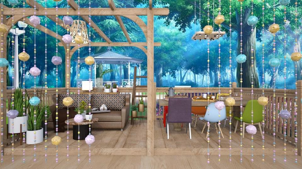 Small Hut - by beautiful luxury winter decoration