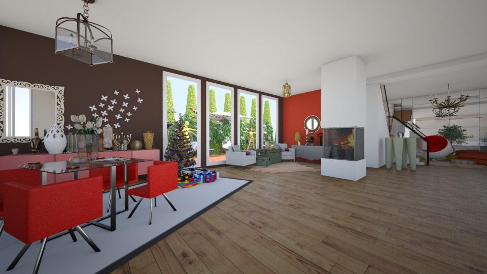 Other red 2 modern - Modern - Living room  - by Yana Radetskaya