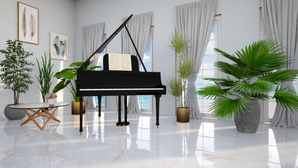 LR piano - Living room - by LunaBradley