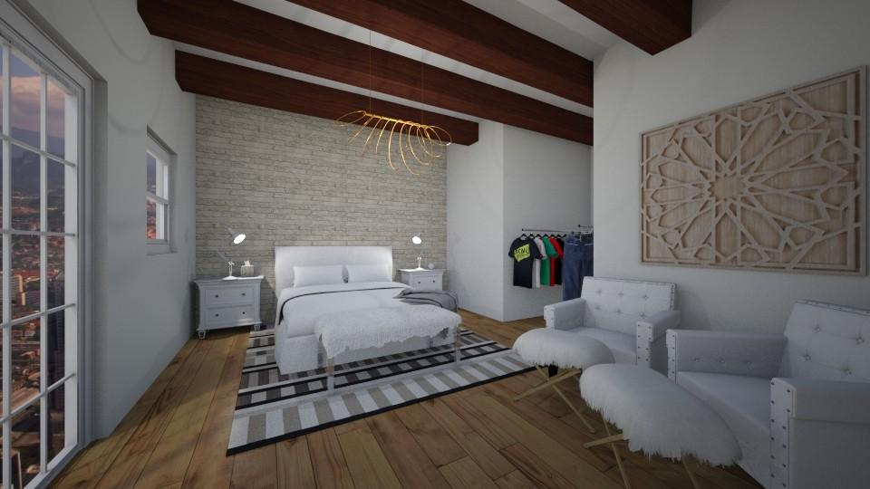 white city bedroom - Bedroom  - by herrincook