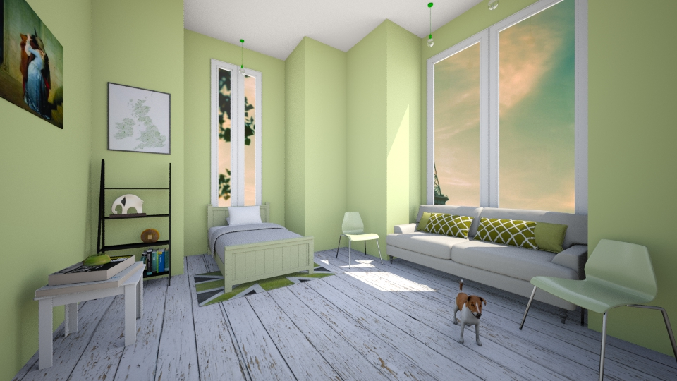 Green Bedroom - Bedroom  - by Sunny Bunny