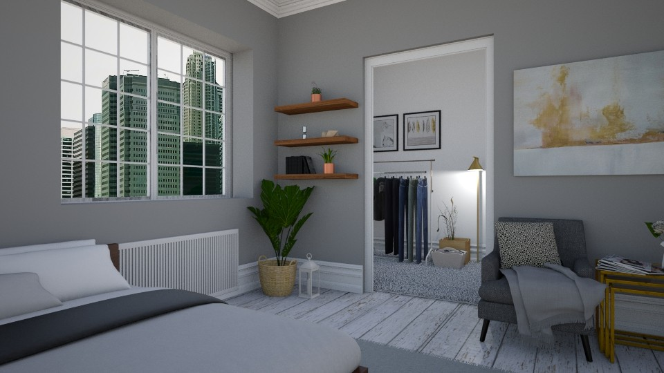 Grey - Bedroom - by dorota_k