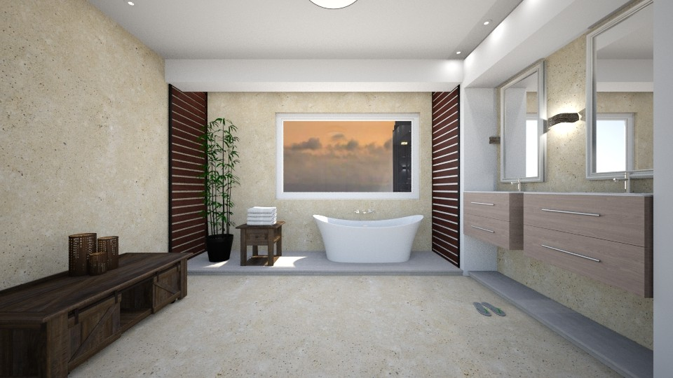 natural - Classic - Bathroom - by dorkaanna59