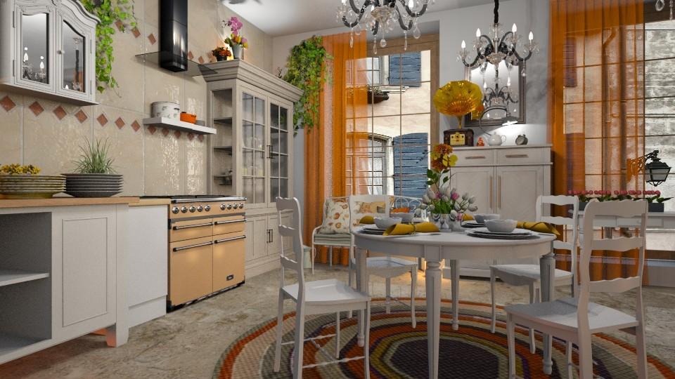 Shabby_Kitchen2 - Kitchen - by ZuzanaDesign